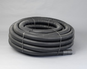 160/137MM X 25M COIL BLACK ELECTRIC DUCT TWDU INCL COUPLER                  29268