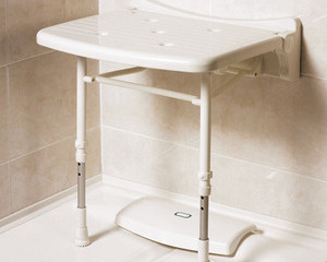 AKW FOLD UP SHOWER SEAT WITH LEGS  02010