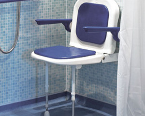 AKW SHOWER SEAT BLUE (BACK & ARMS 04130P