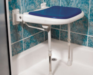 AKW SHOWER SEAT BLUE STANDARD     04070P