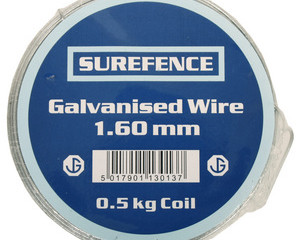 WIRE TYING GALVANISED            500G X 1.60MM