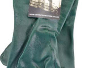 GLOVES GREEN GAUNTLET PVC          GW027